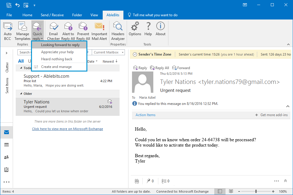 Outlook updates